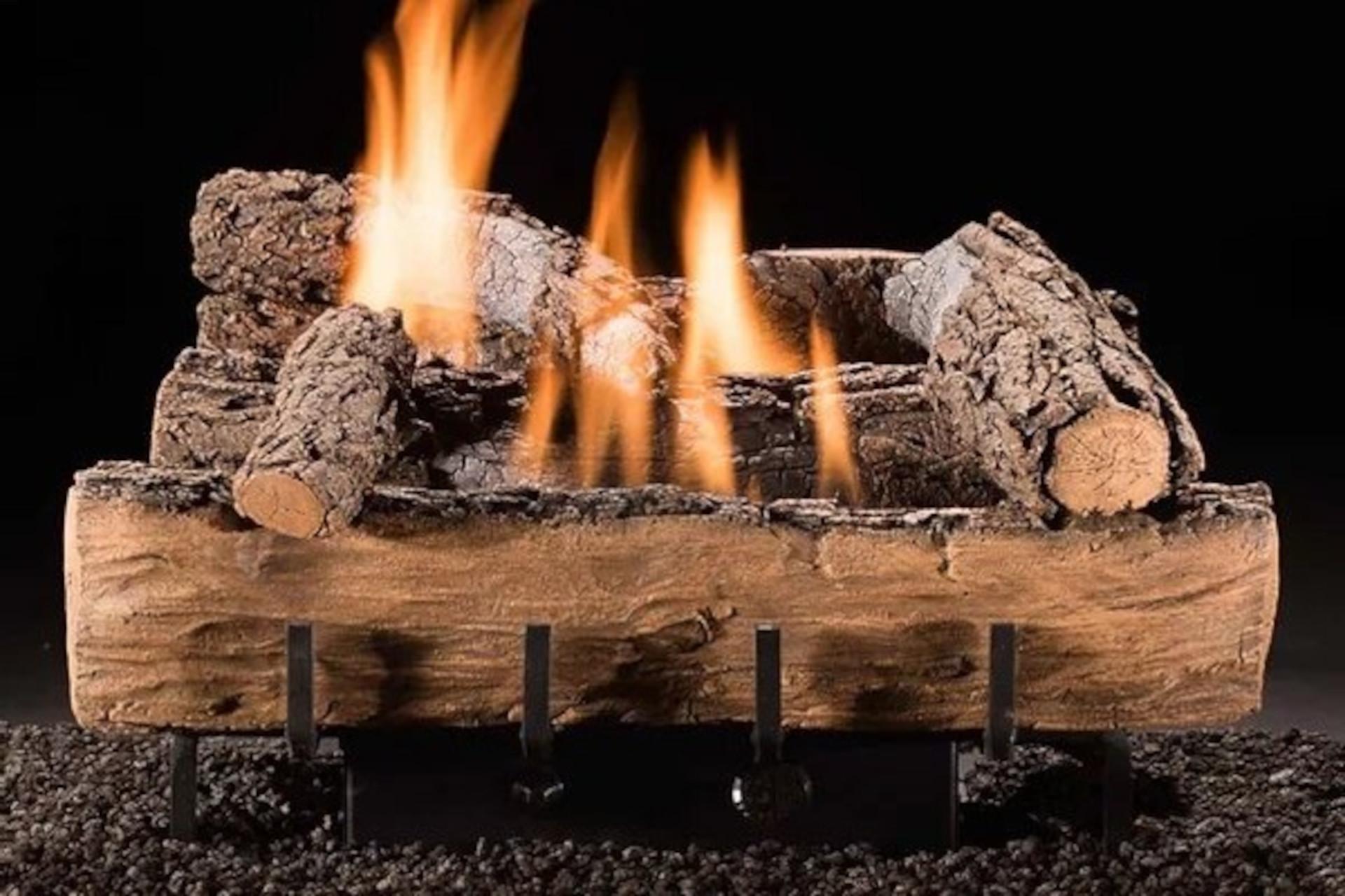 Hargrove Weathered Oak Vent Free Log Set