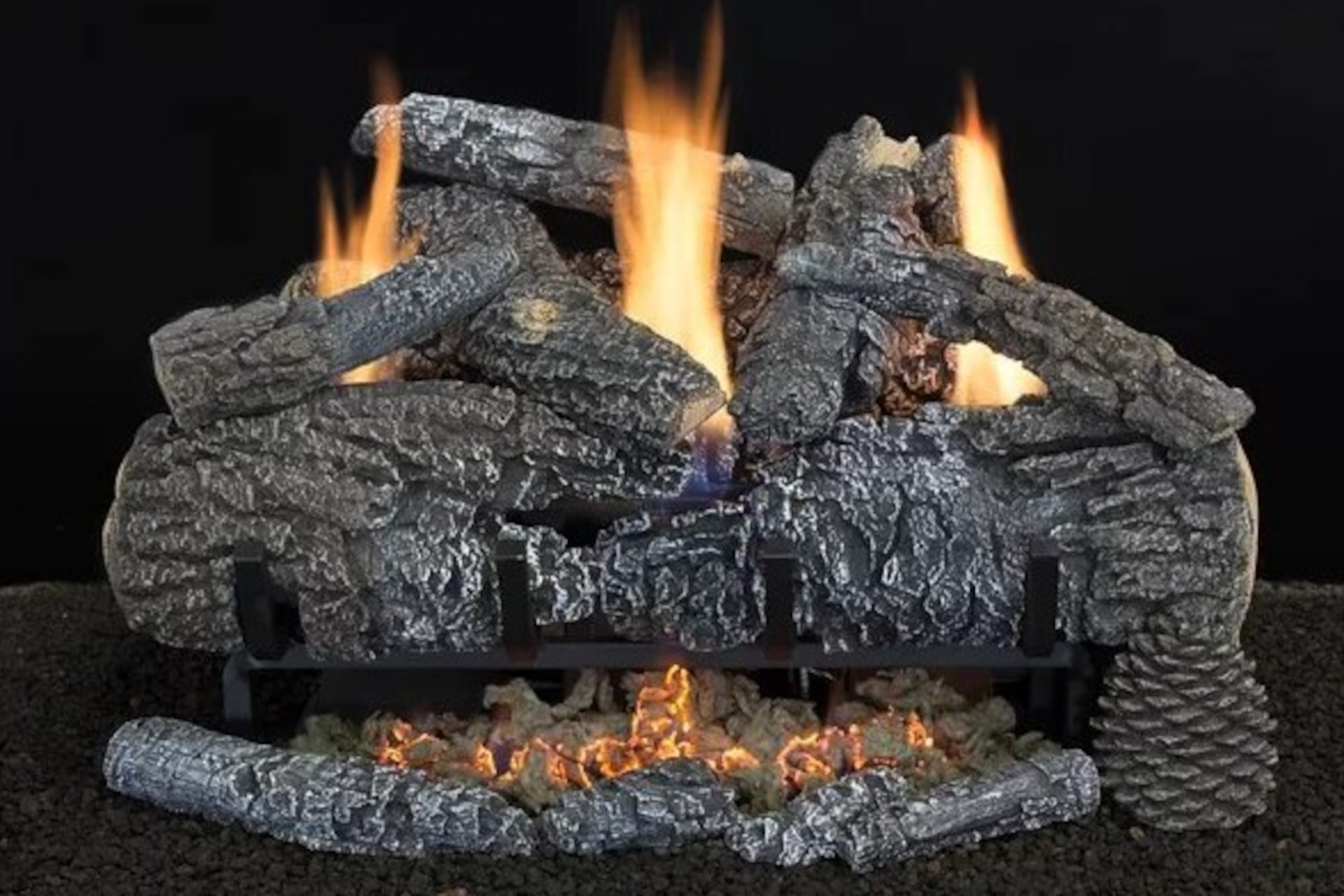 Hargrove Yukon Char Vent Free Log Set