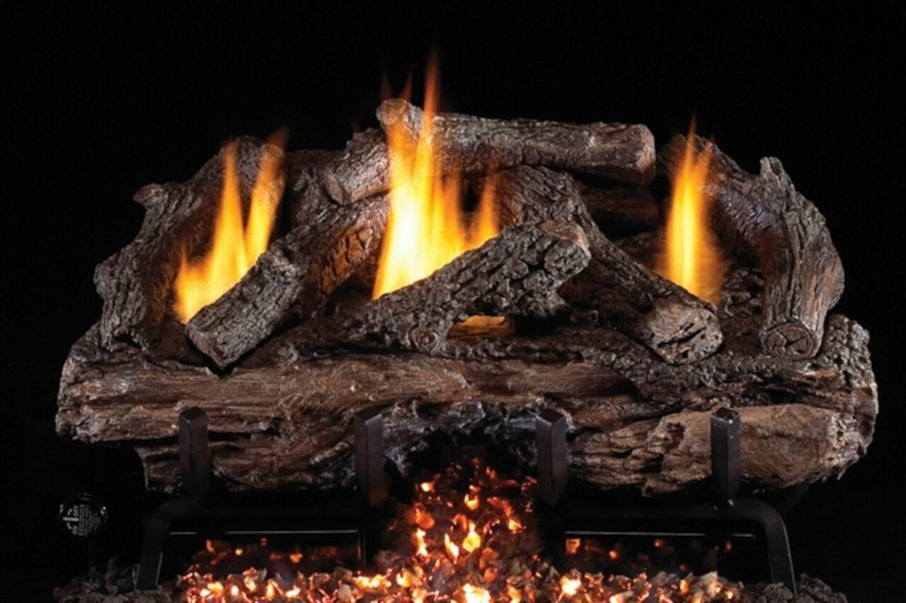 Real Fyre Charred Aged Split Oak Vent Free Log Set