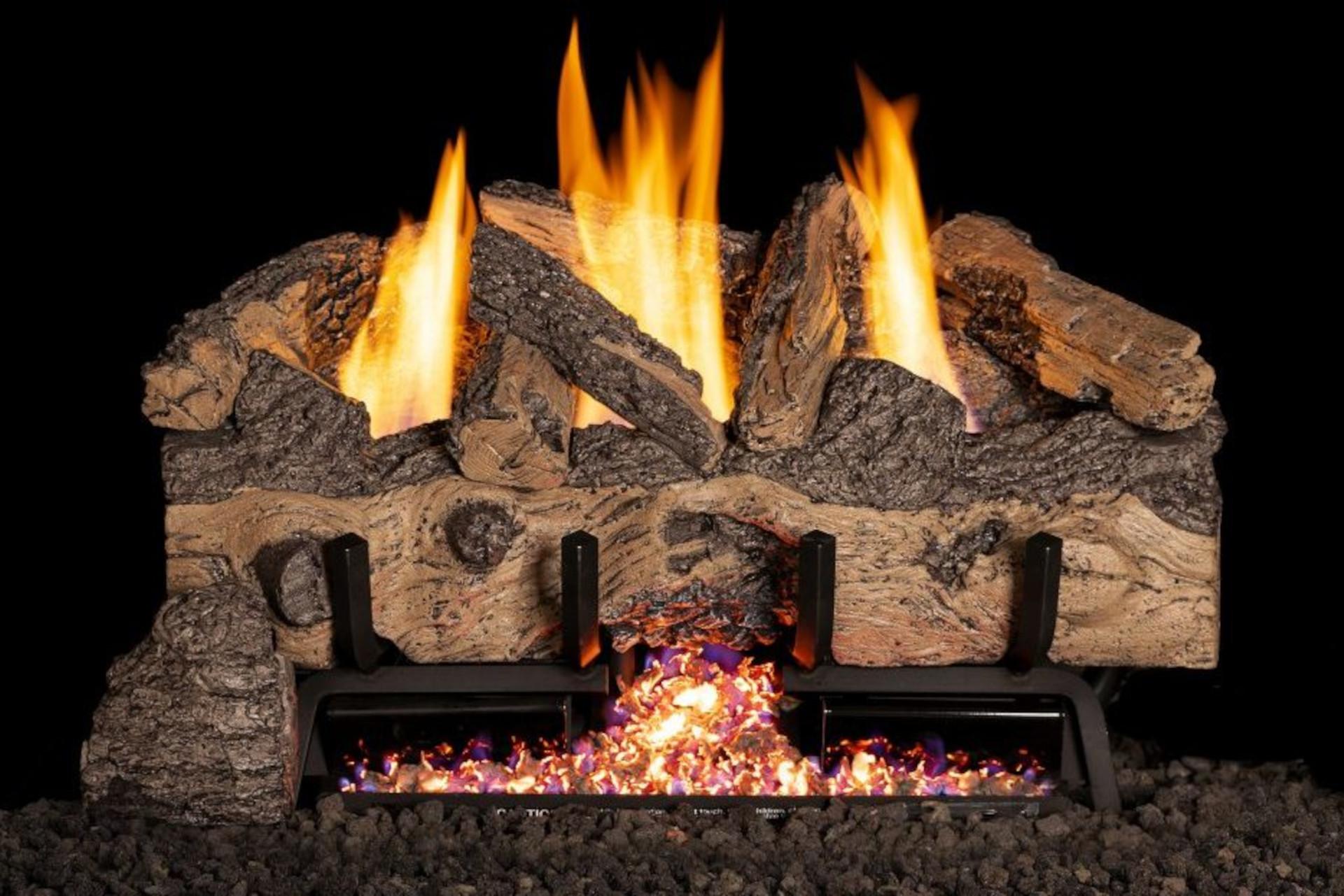 Real Fyre Charred Gnarled Split Oak Vent Free Log Set