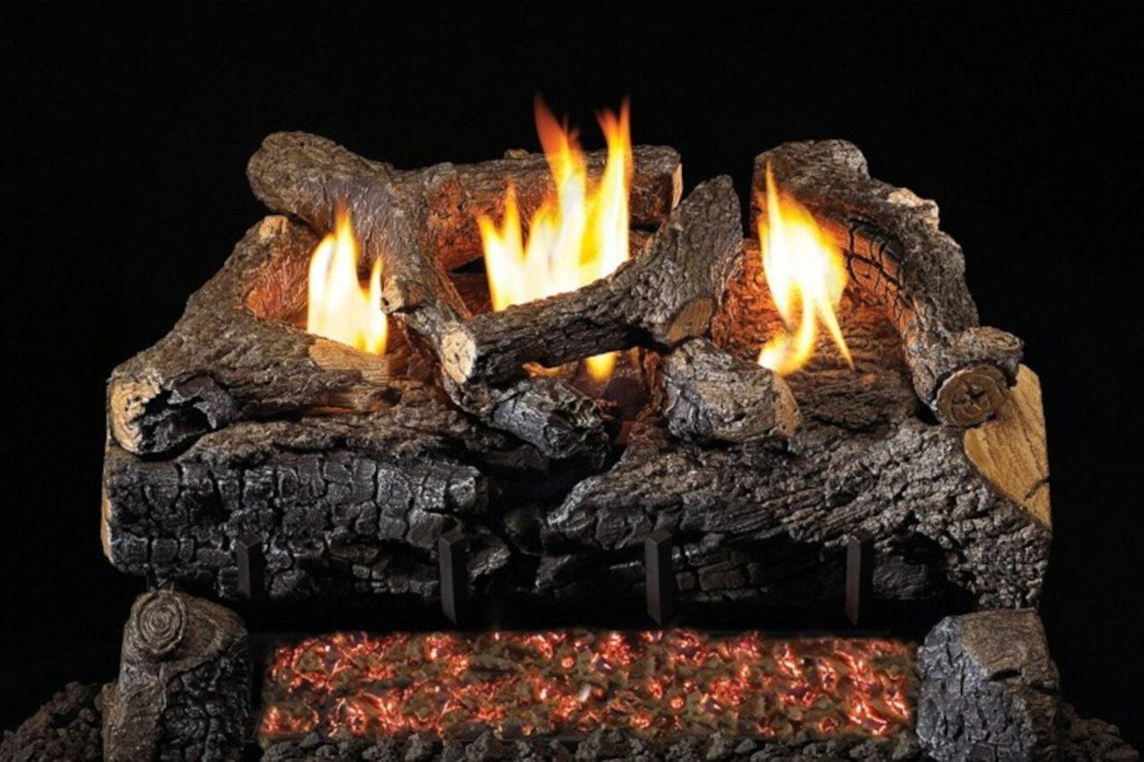 Real Fyre Evening Fyre Charred Vent Free Log Set