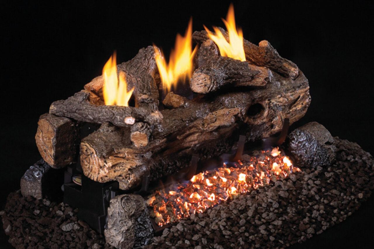 Real Fyre Evening Fyre Split See-Thru Log Set