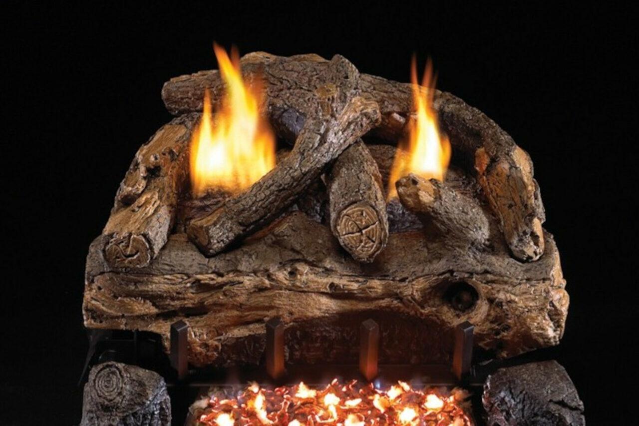 Real Fyre Evening Fyre Split Vent Free Log Set