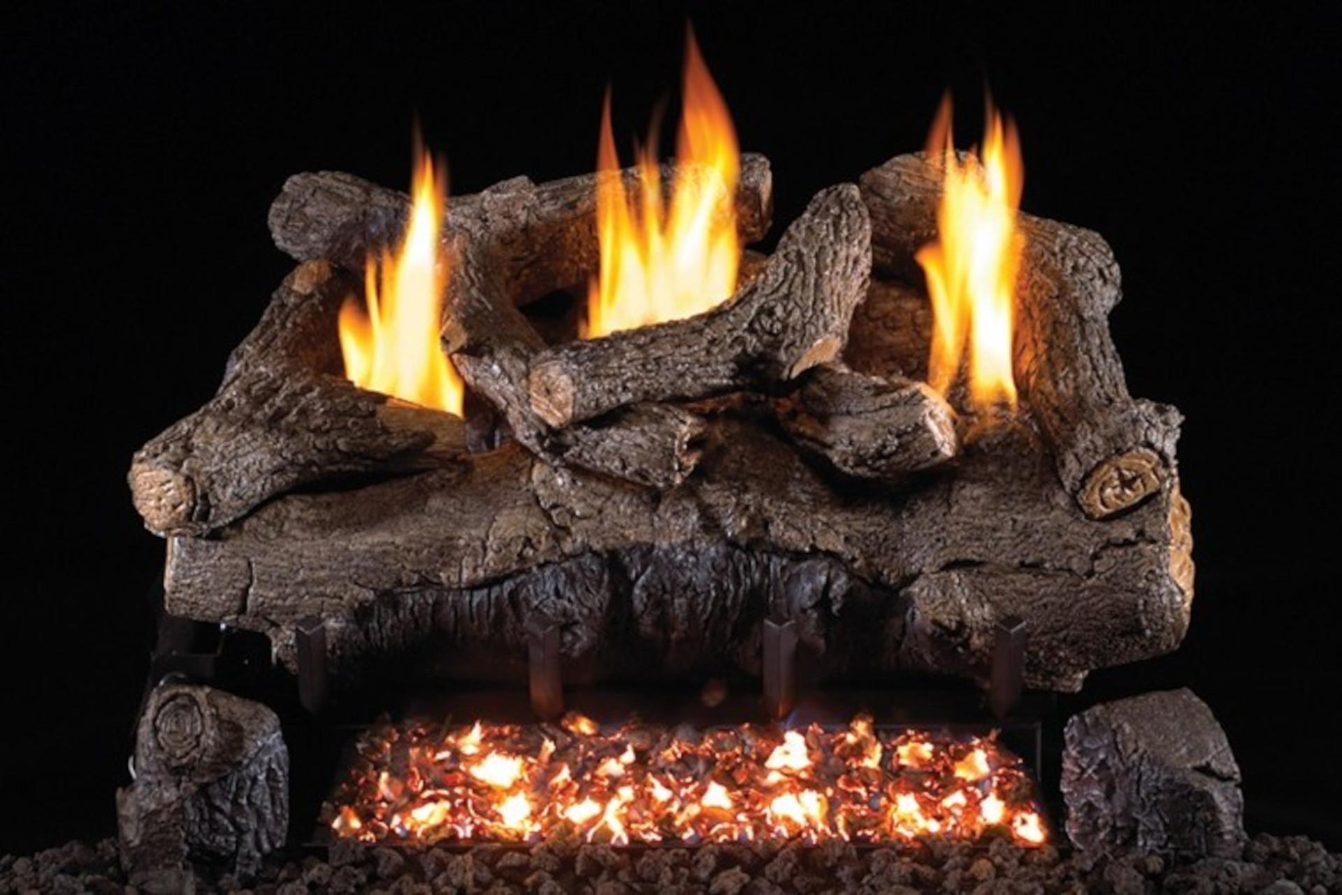 Real Fyre Evening Fyre Vent Free Log Set