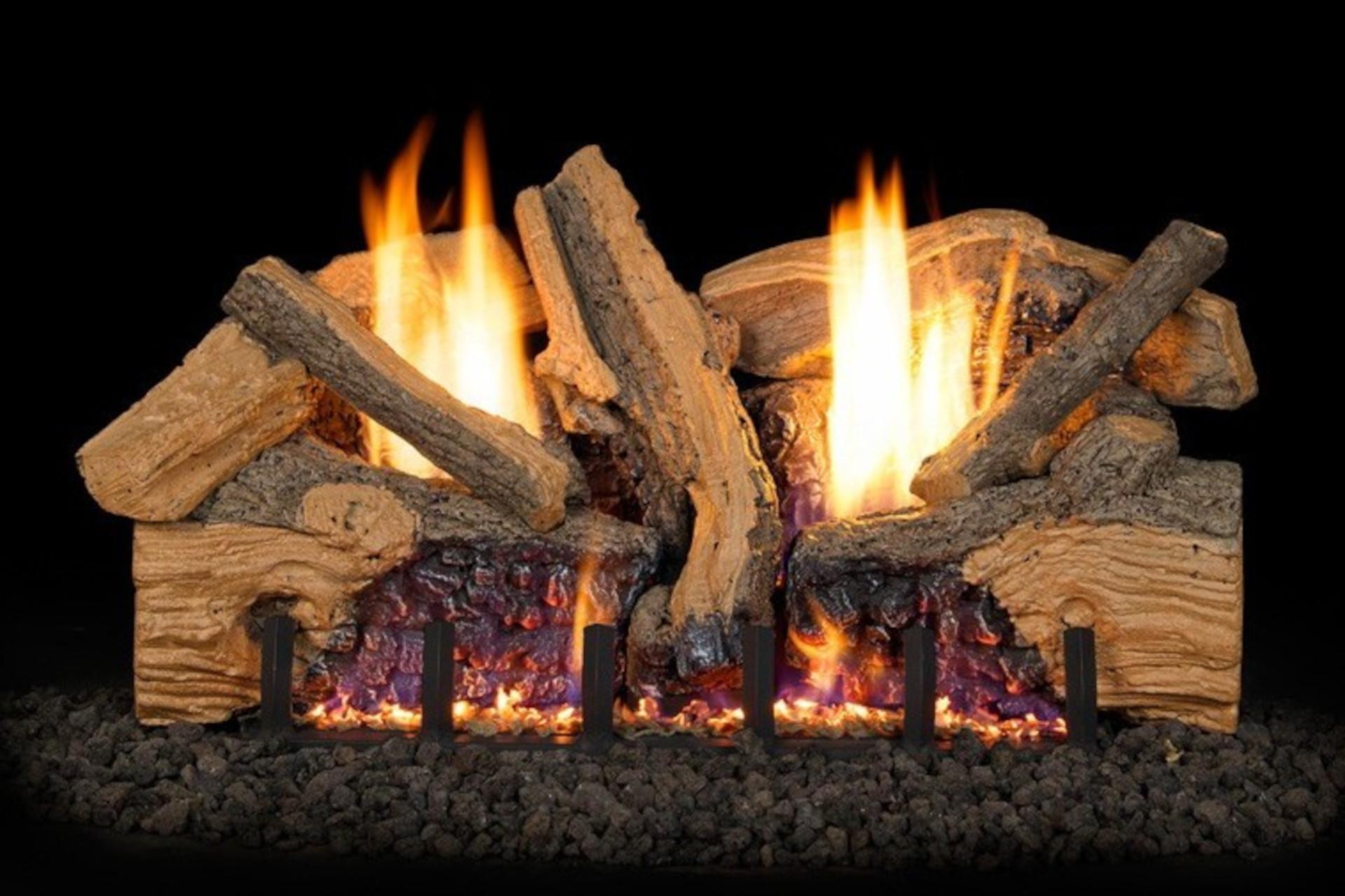 Real Fyre Foothill Split Oak Vent Free Log Set