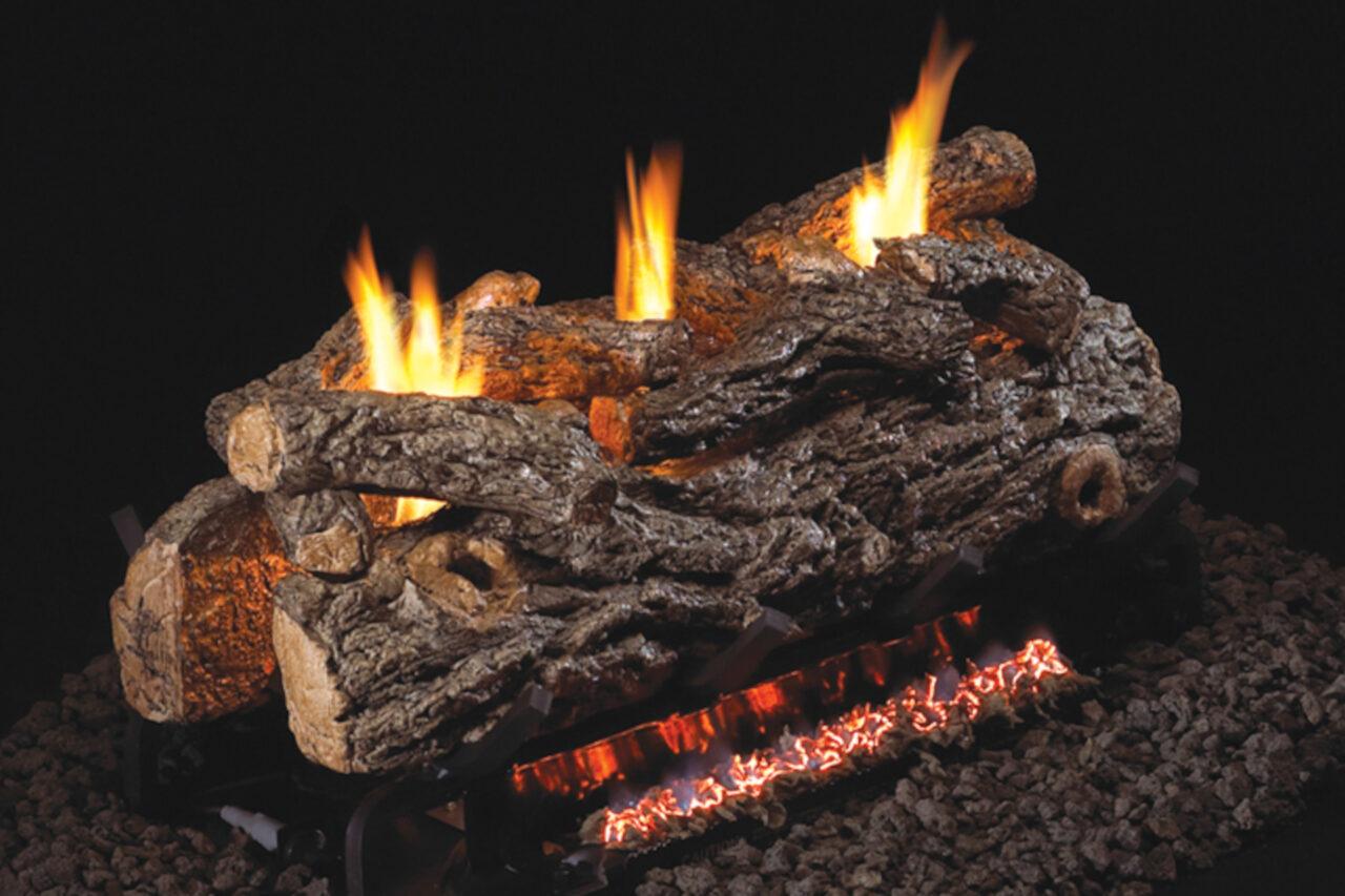 Real Fyre Golden Oak Designer See-Thru Vent-Free Log Set