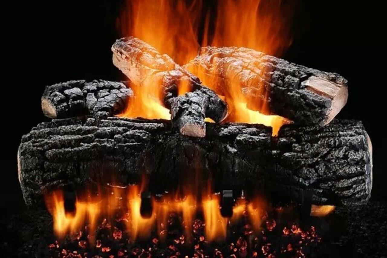 Hargrove Blazing Pecan Vented Gas Log Set