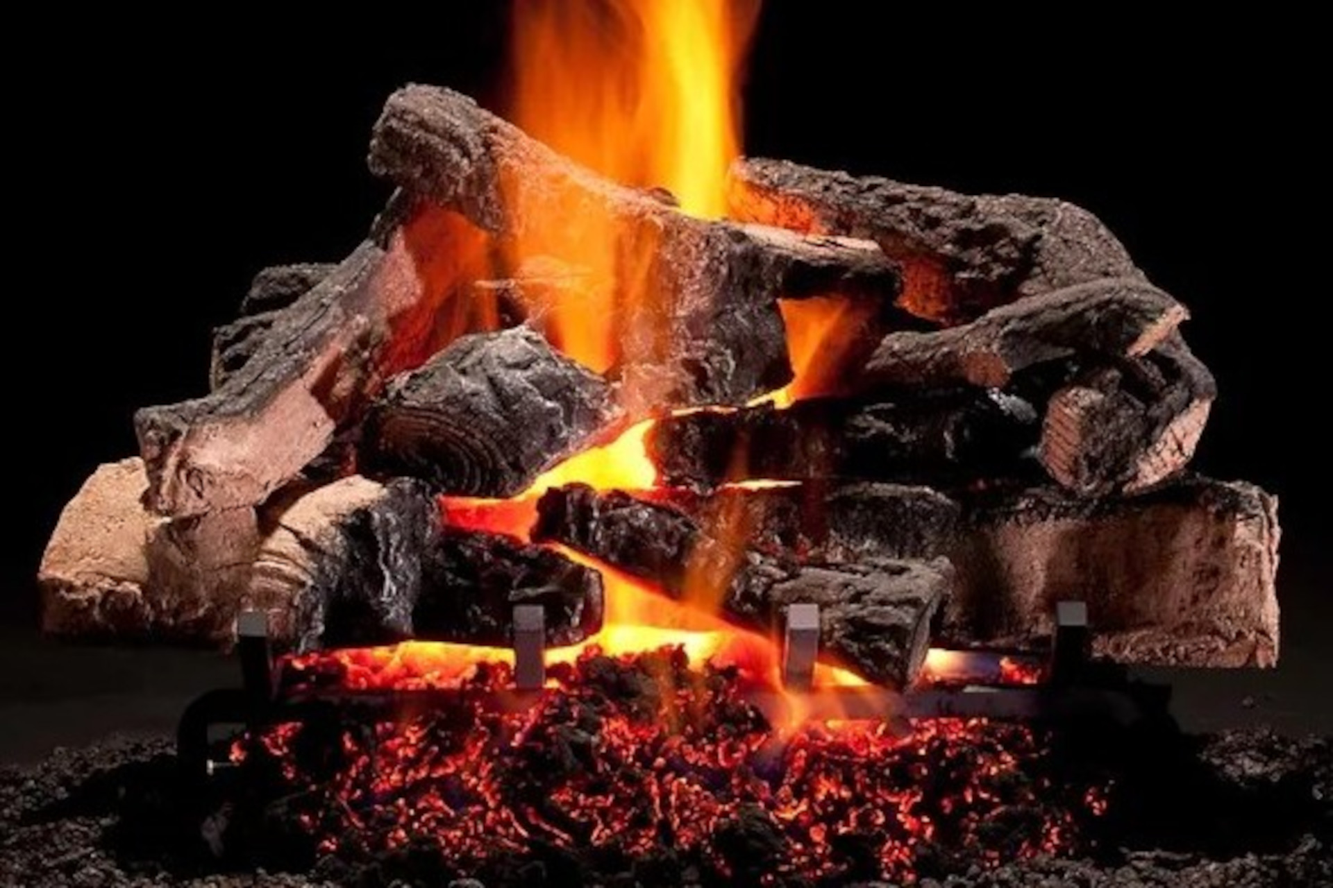 Hargrove Rustic Timbers Vented Gas Log Set