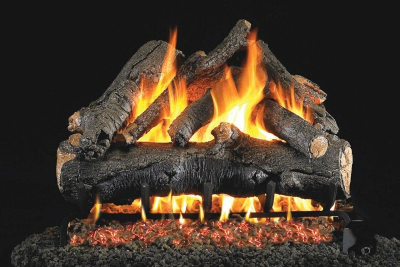 American Oak - Real Fyre Vented Gas Log Set