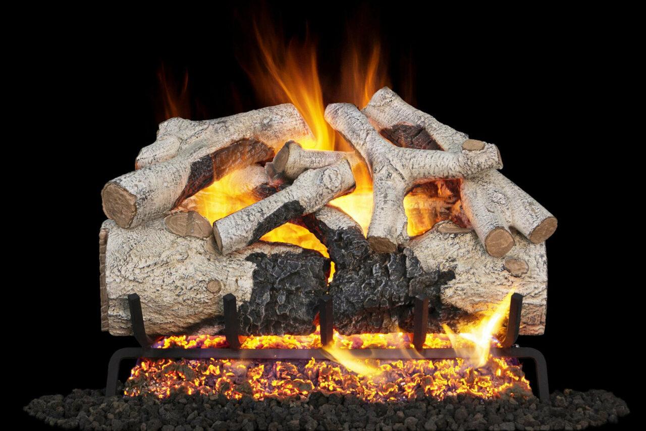 Burnt Aspen - Real Fyre Vented Gas Log Set