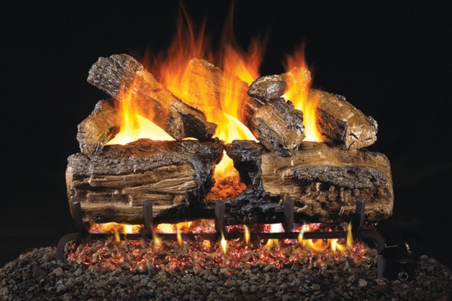 Burnt Split OAk - Real Fyre Vented Gas Log Set