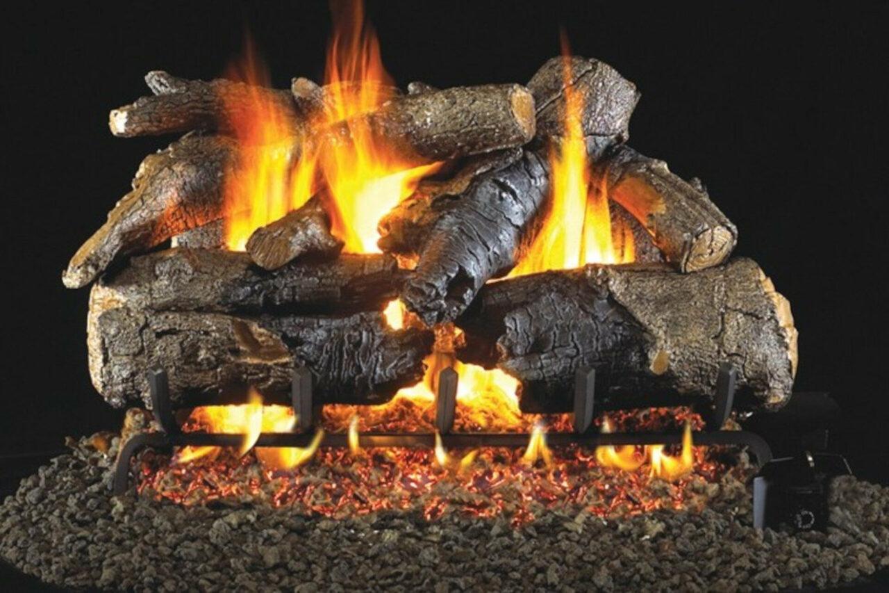 Charred American Oak - Real Fyre Vented Gas Log Set