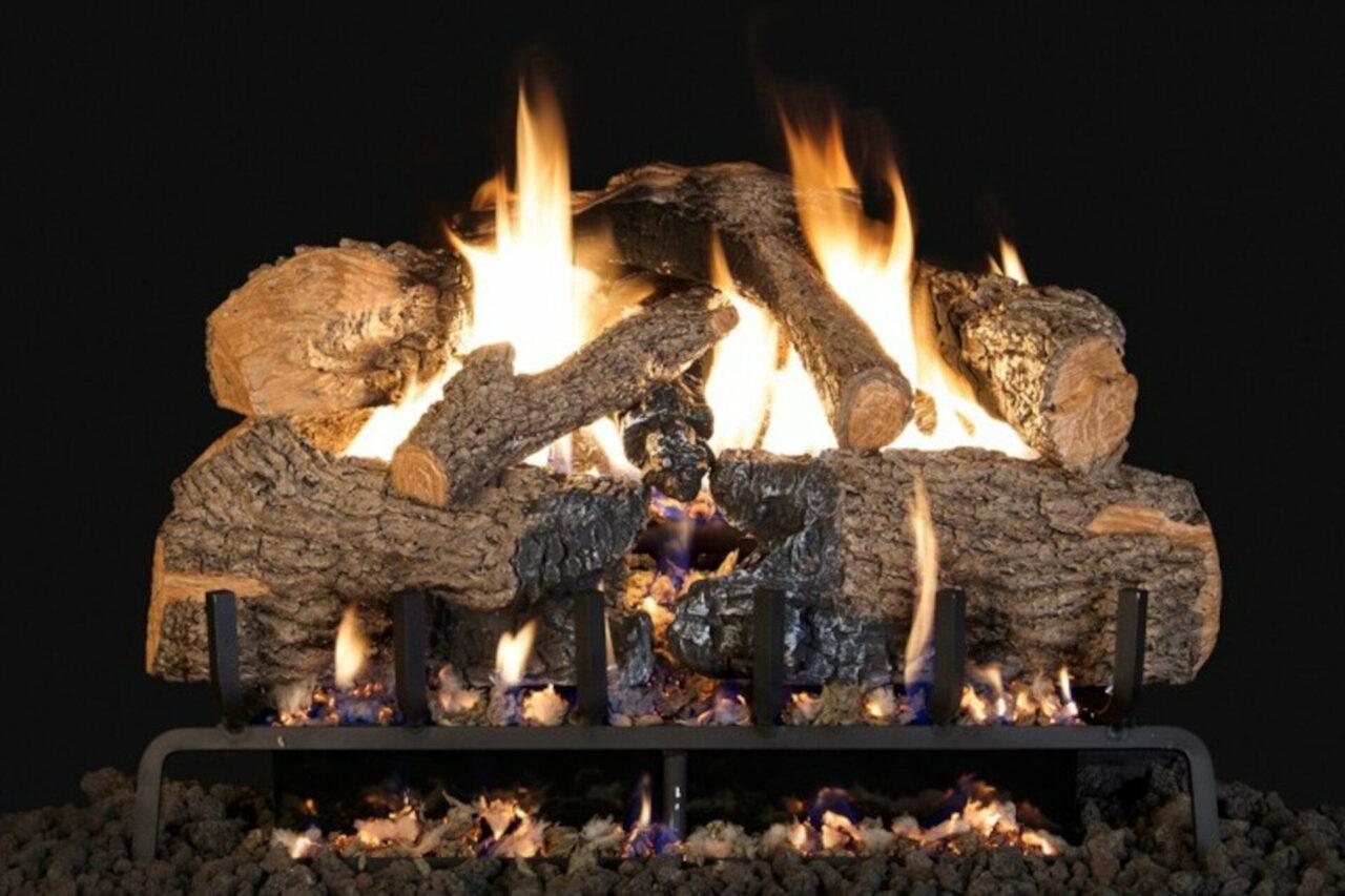 Charred Angel Oak - Real Fyre Vented Gas Log Set