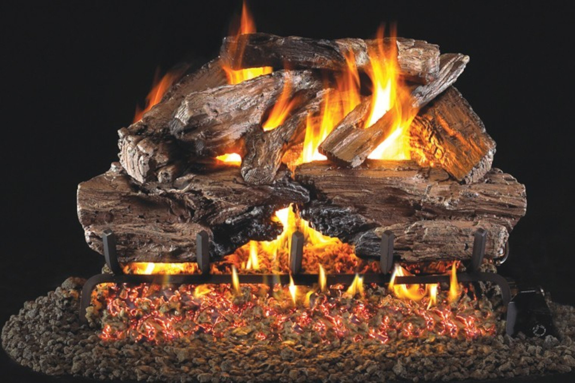 Charred Cedar - Real Fyre Vented Gas Log Set