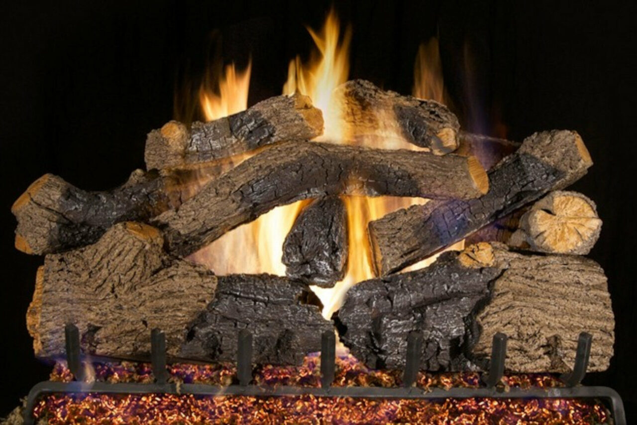 Charred Grizzly Oak - Real Fyre Vented Gas Log Set