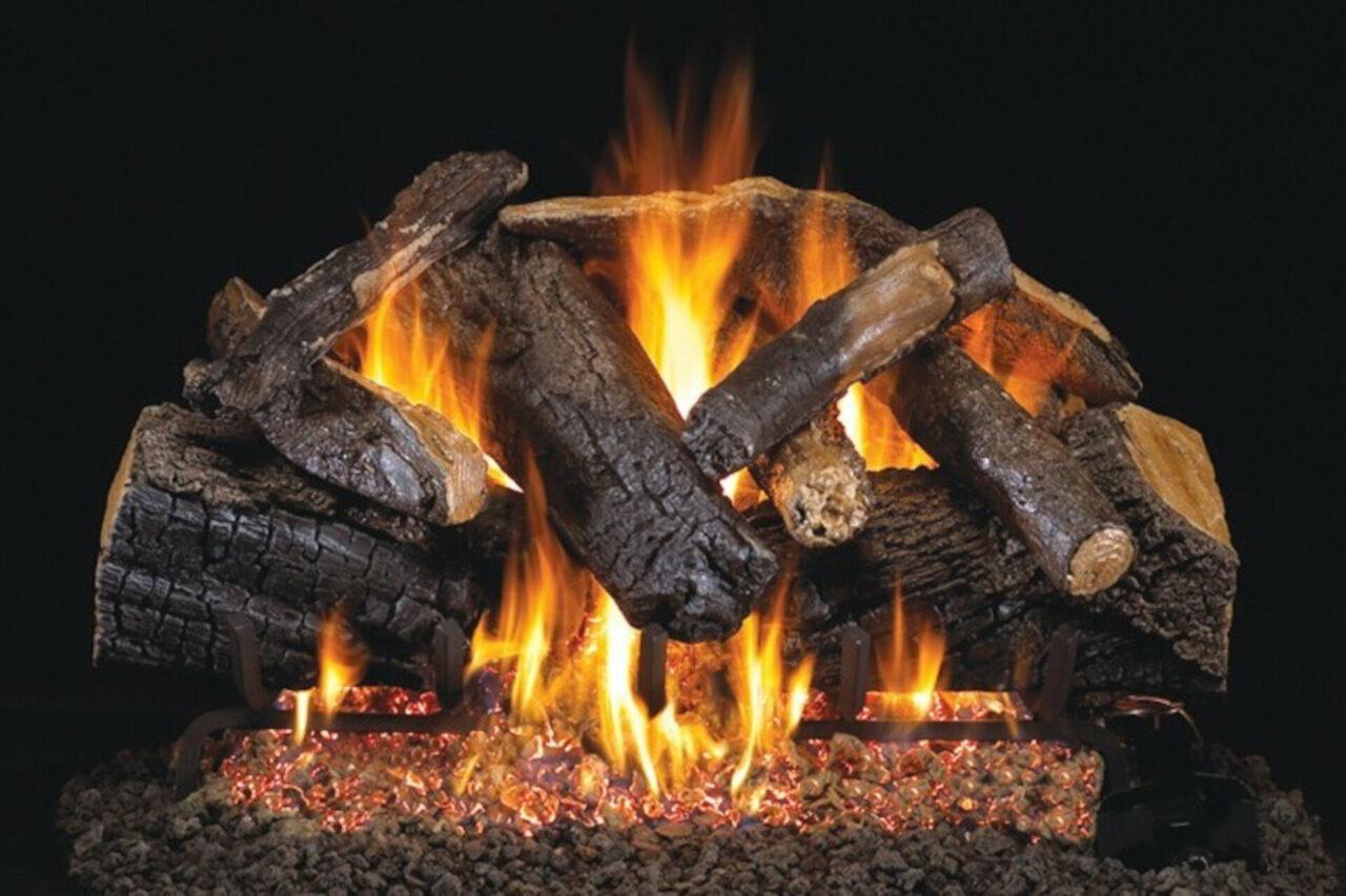 Charred Majestic Oak - Real Fyre Vented Gas Log Set