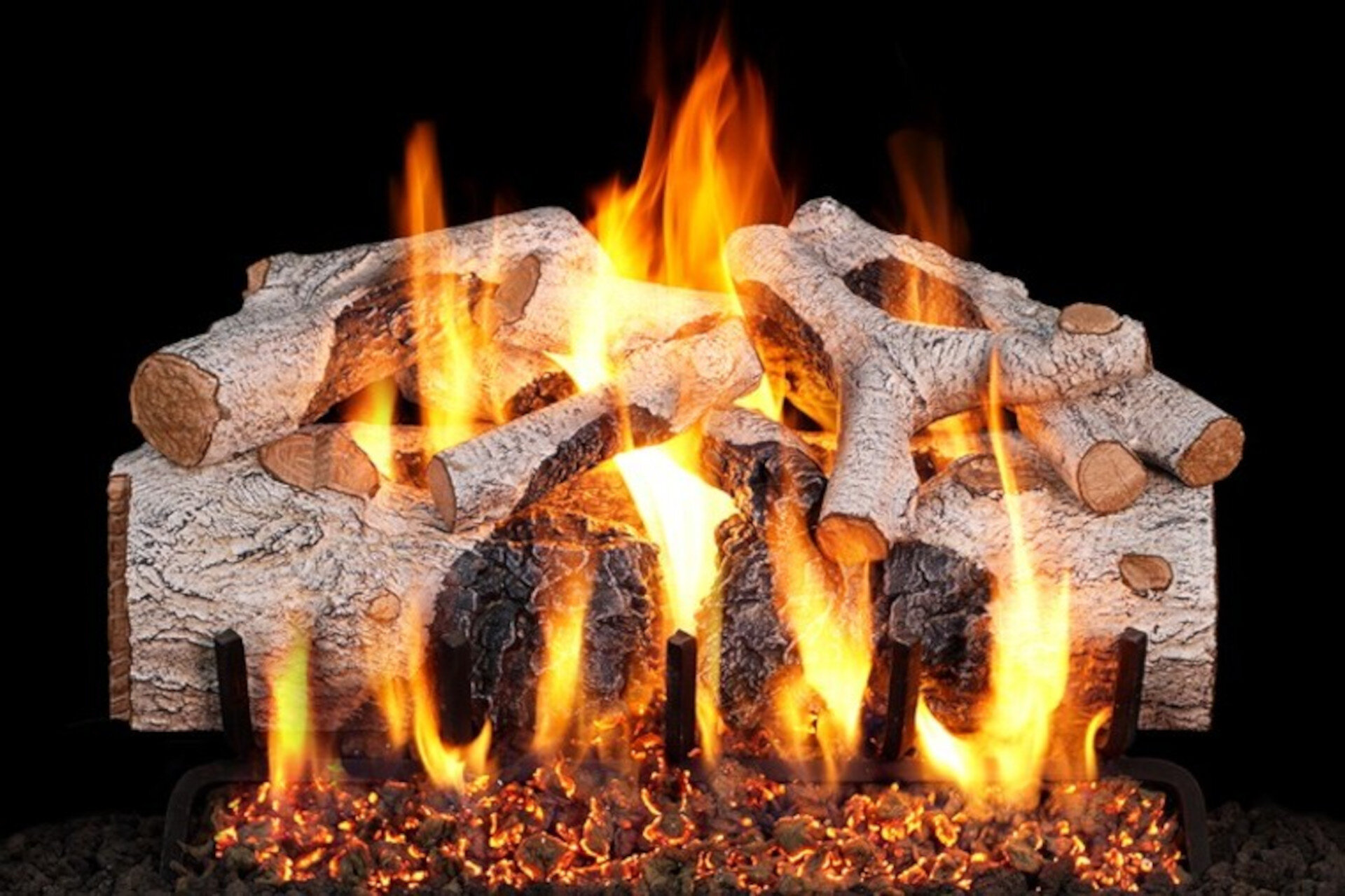 Charred Mountain Birch - Real Fyre Vented Gas Log Set