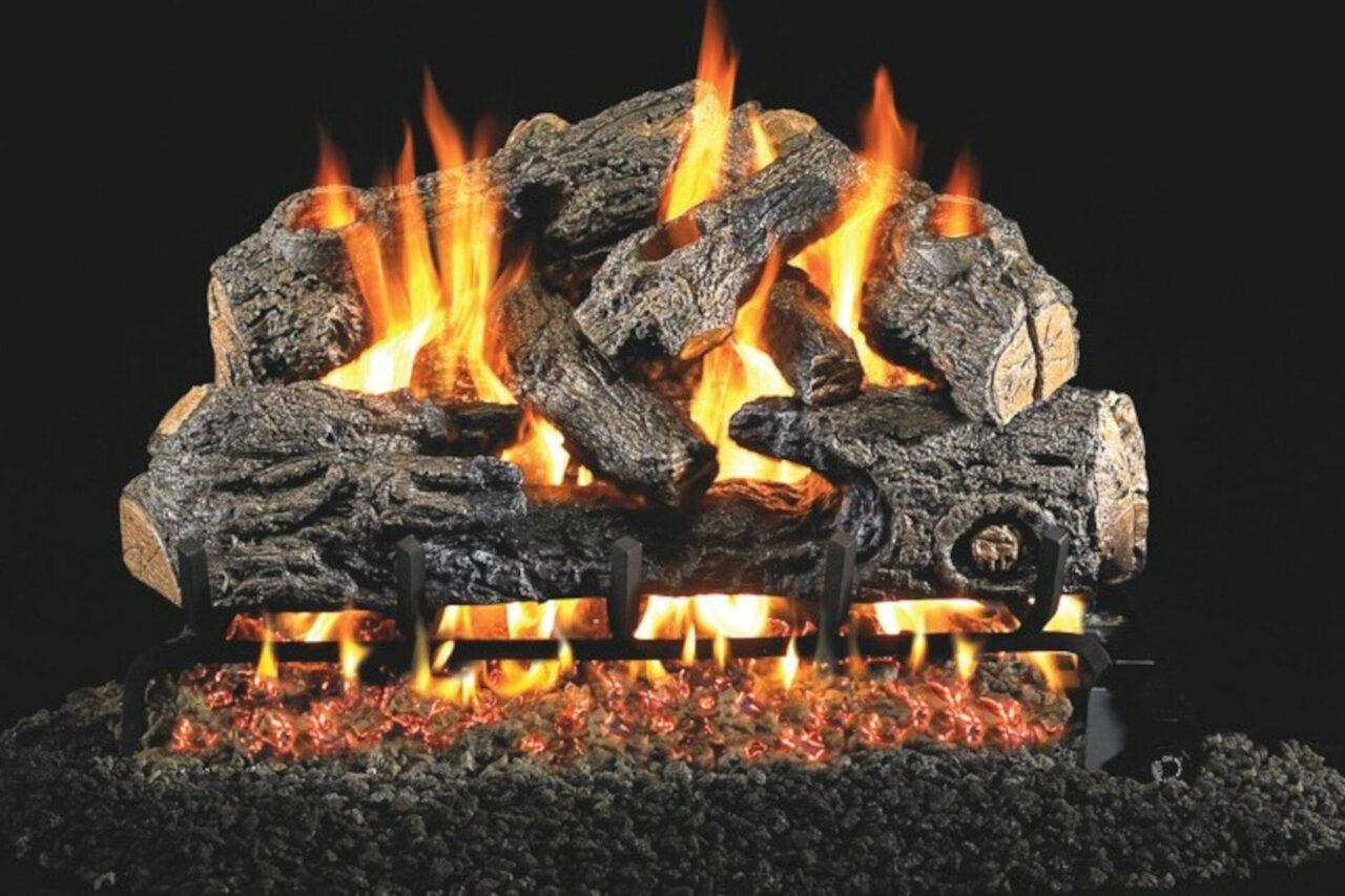 Charred Northern Oak - Real Fyre Vented Gas Log Set