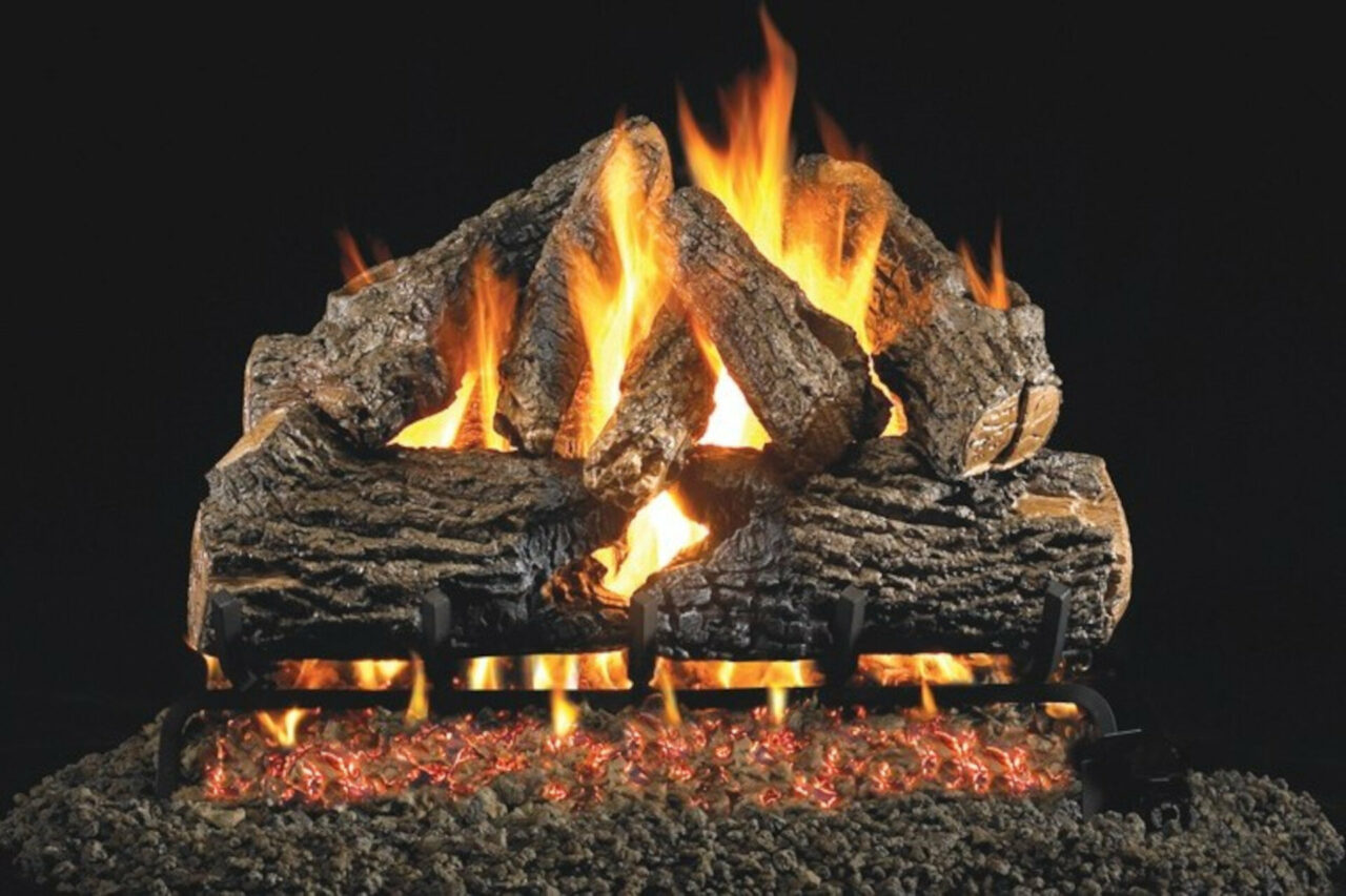 Charred Oak - Real Fyre Vented Gas Log Set