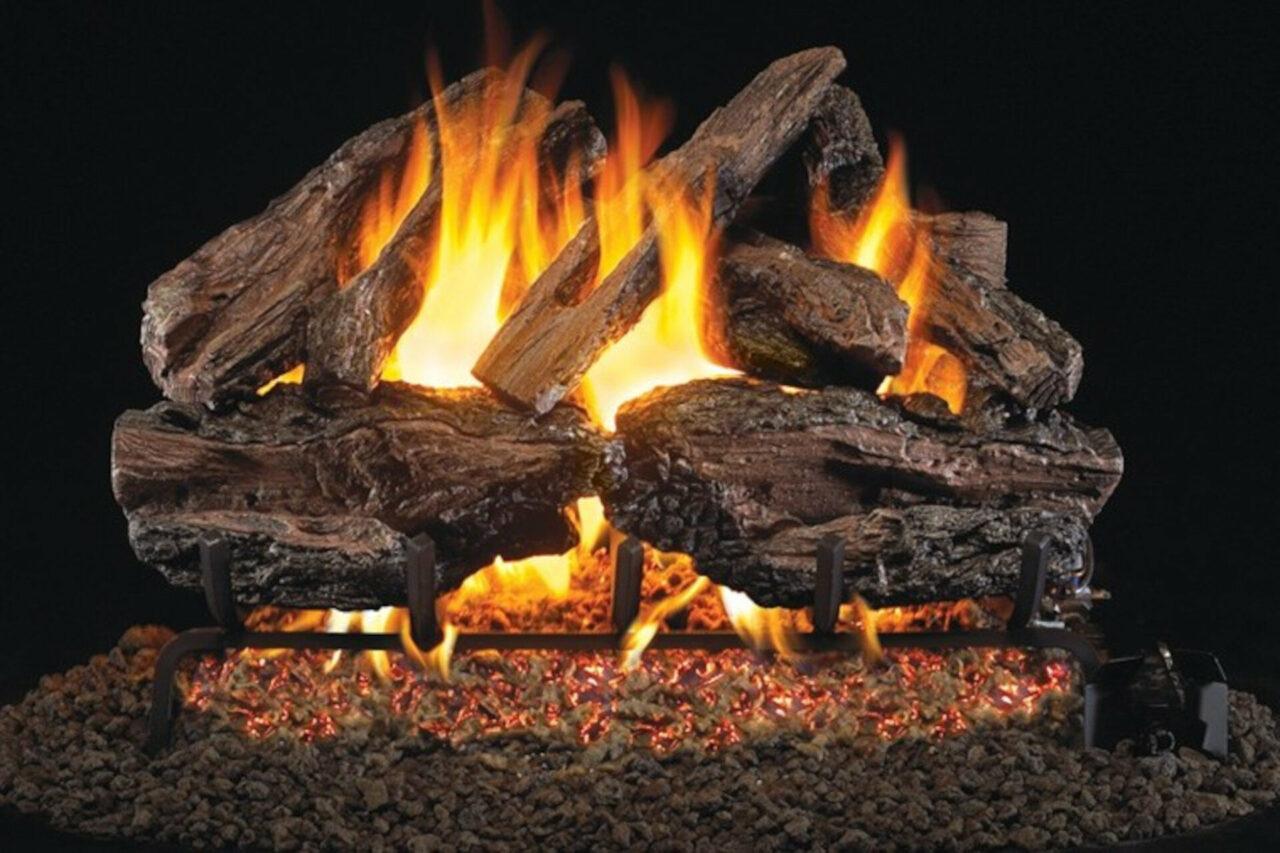 Charred Red Oak - Real Fyre Vented Gas Log Set