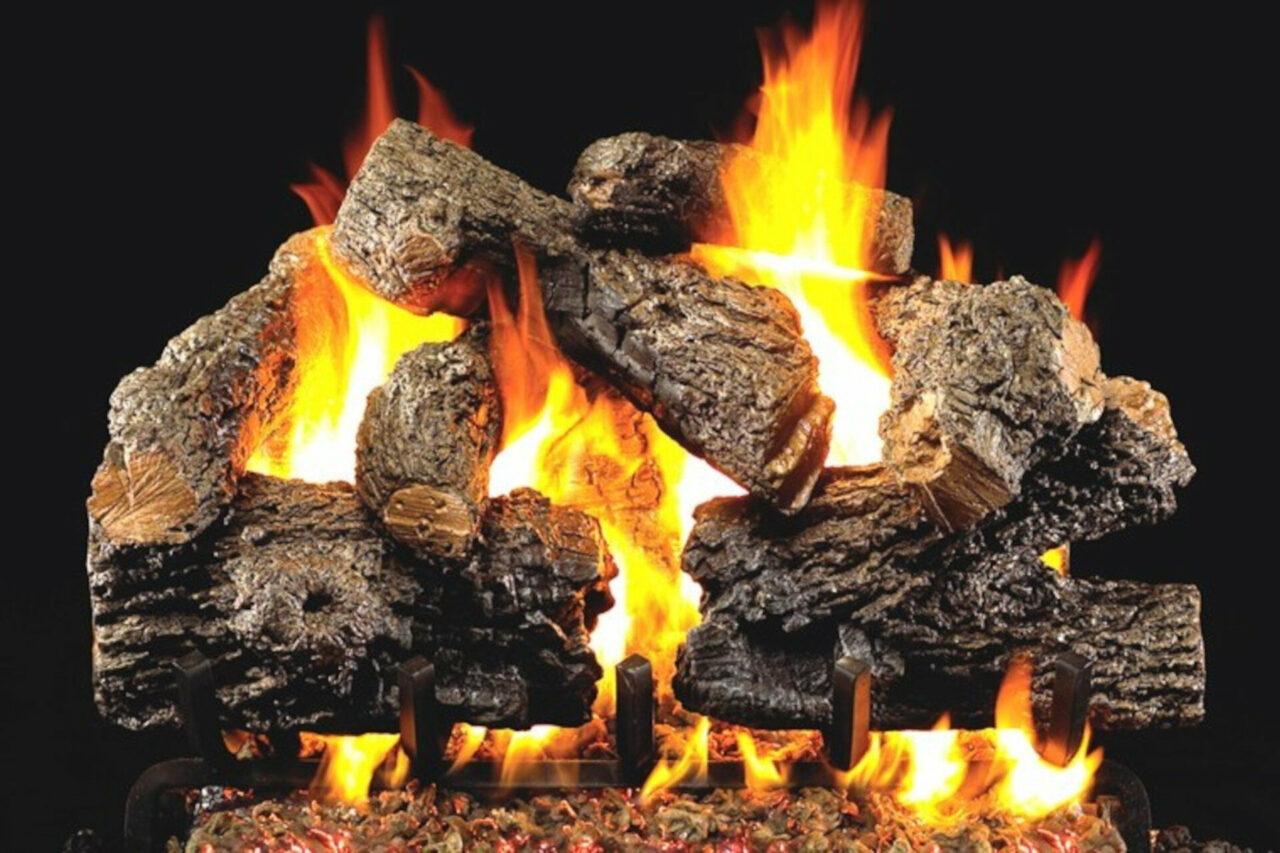 Charred Royal English Oak - Real Fyre Vented Gas Log Set