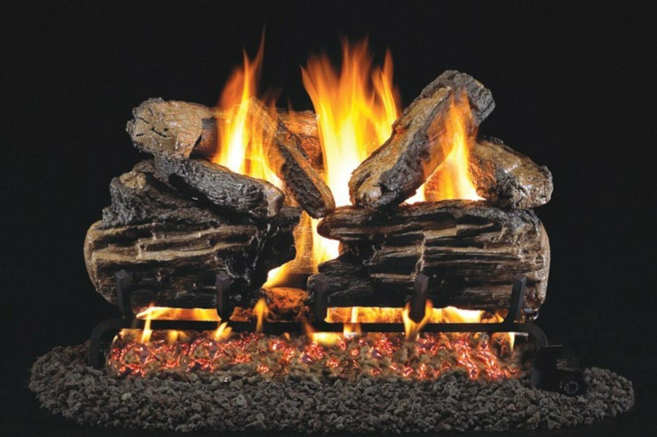 Charred Split - Real Fyre Vented Gas Log Set