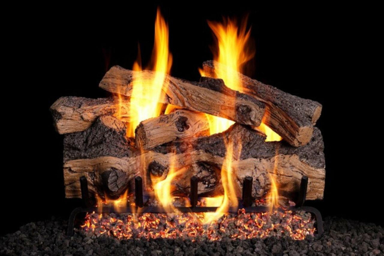 Gnarled Split Oak - Real Fyre Vented Gas Log Set