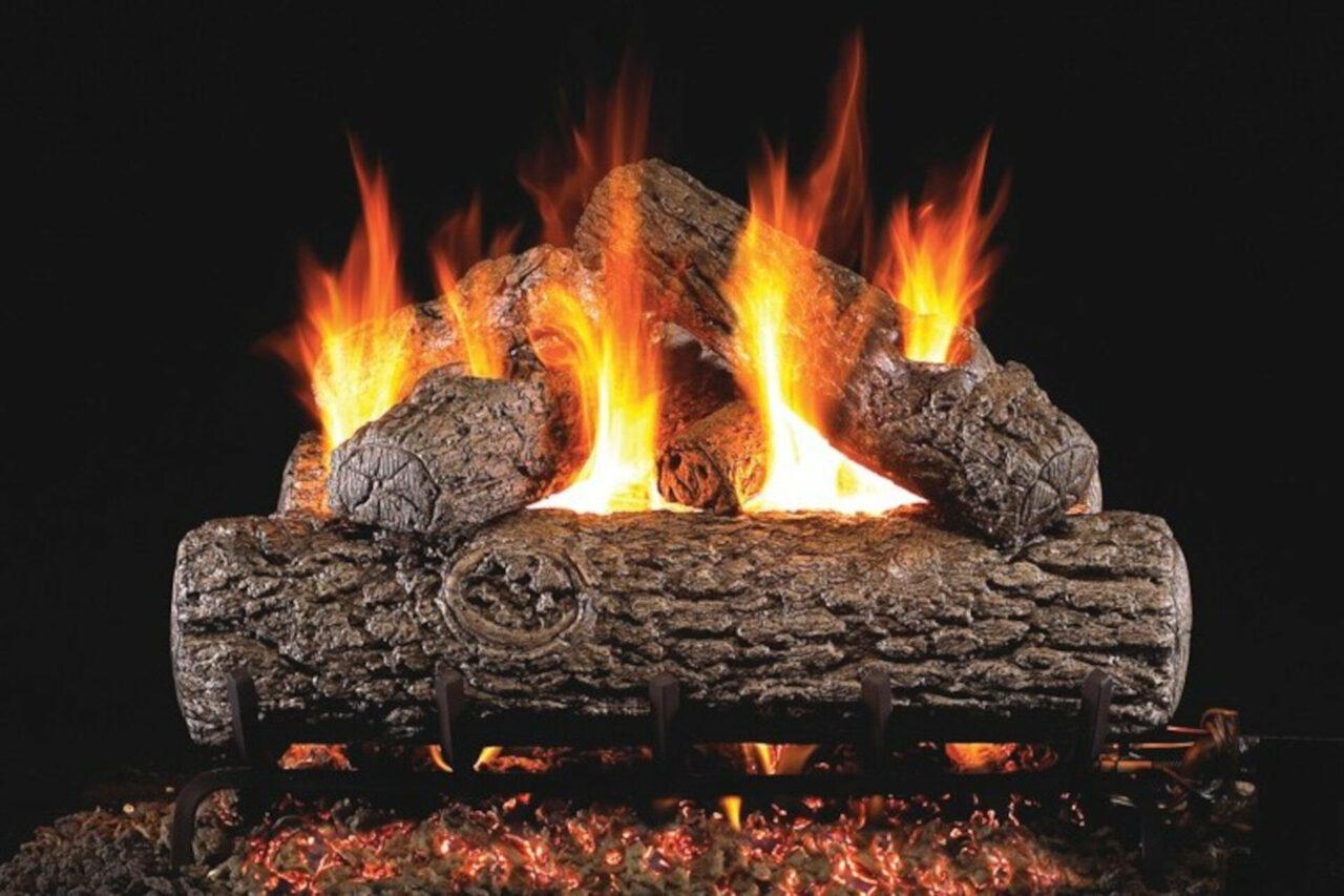 Golden Oak - Real Fyre Vented Gas Log Set