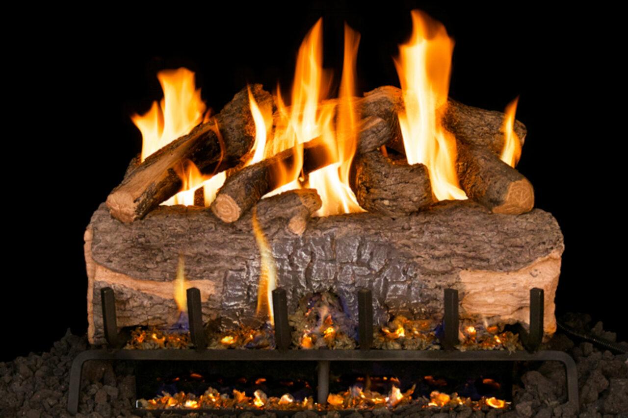 Mountain Crest Oak - Real Fyre Vented Gas Log Set