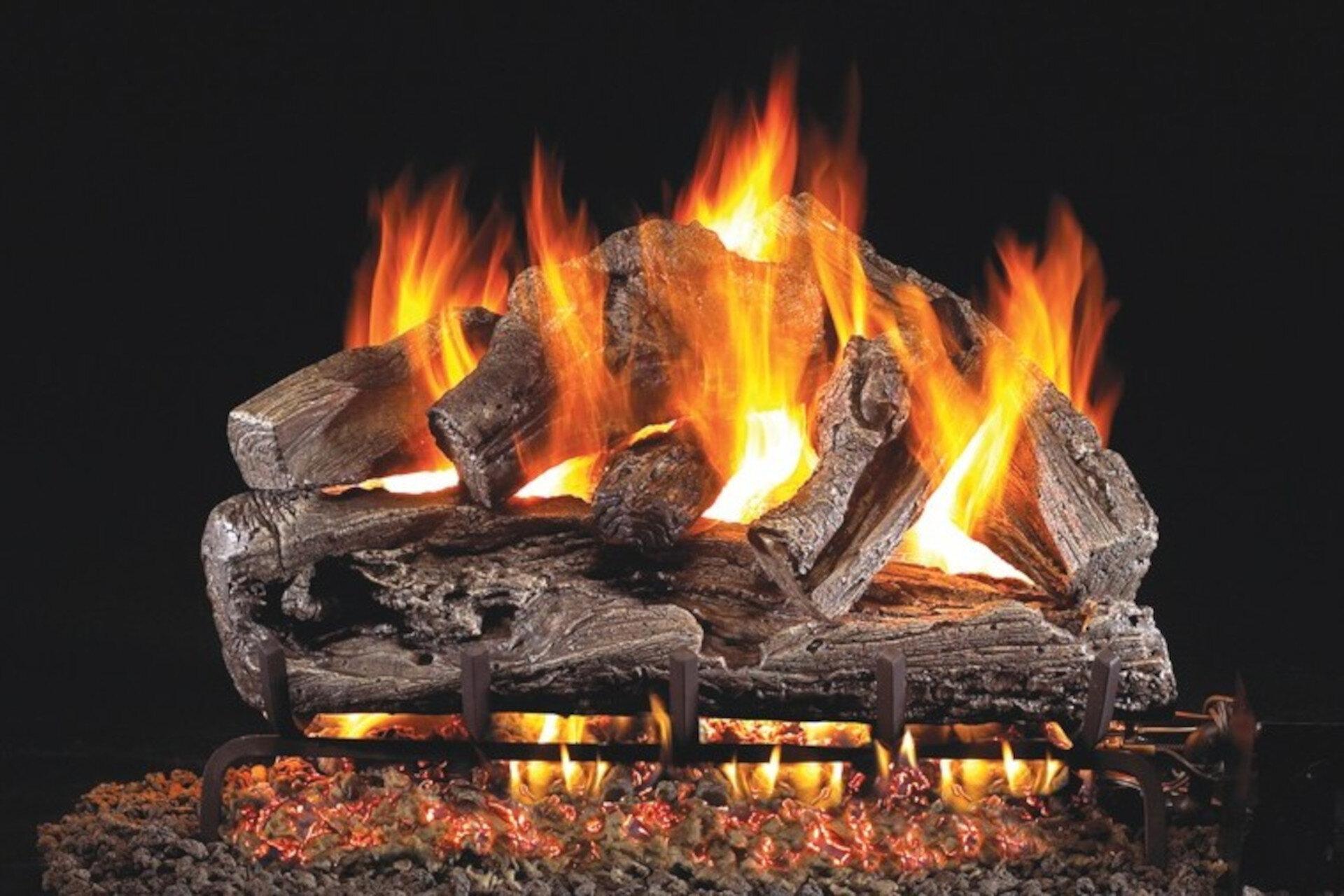 Rugged Oak - Real Fyre Vented Gas Log Set