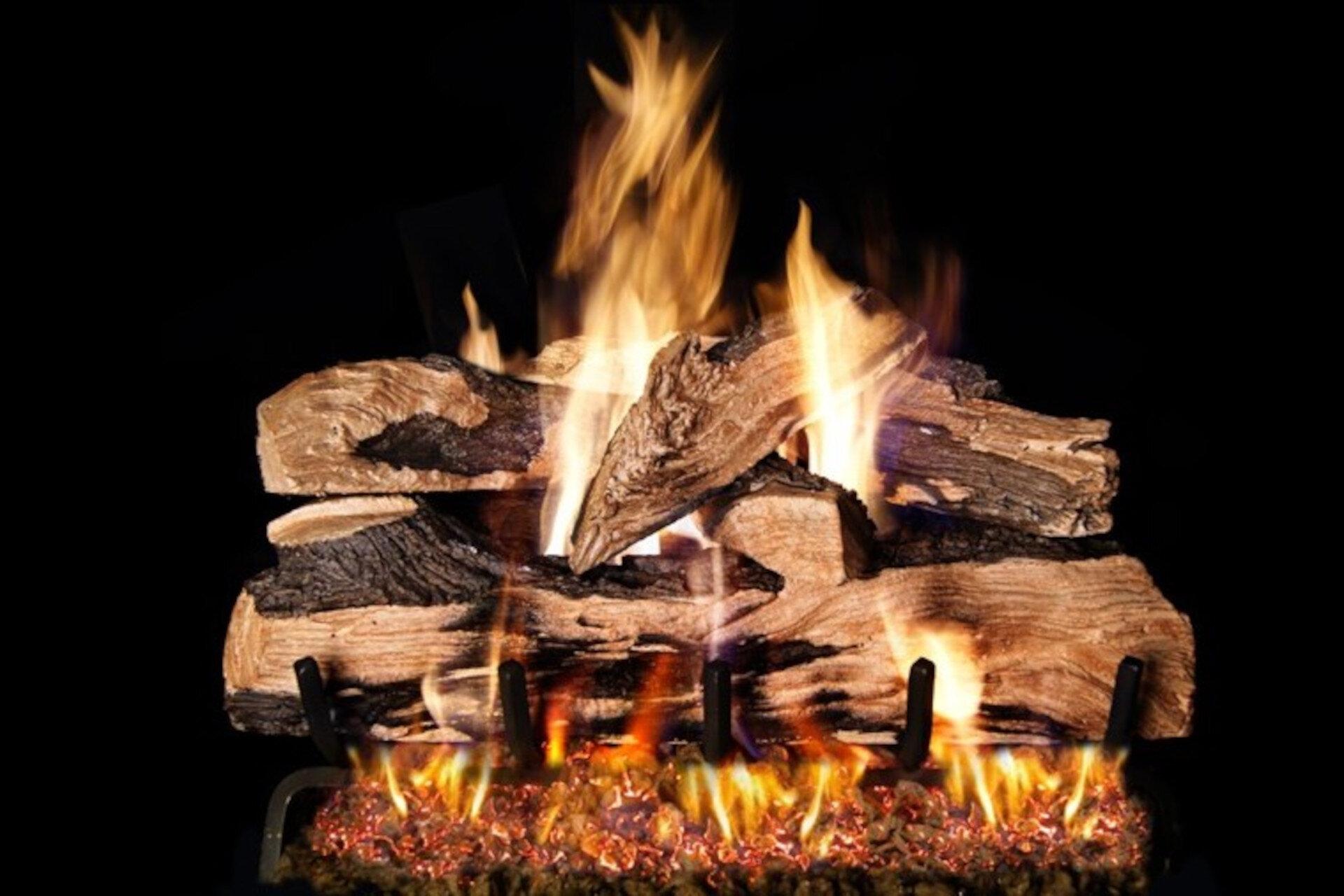 Split Oak Designer Plus - Real Fyre Vented Gas Log Set