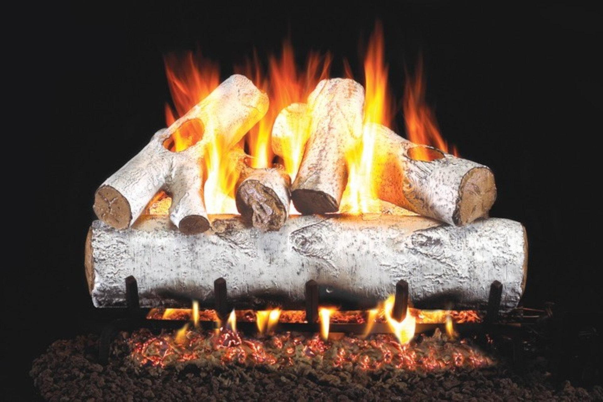 White birch - Real Fyre Vented Gas Log Set