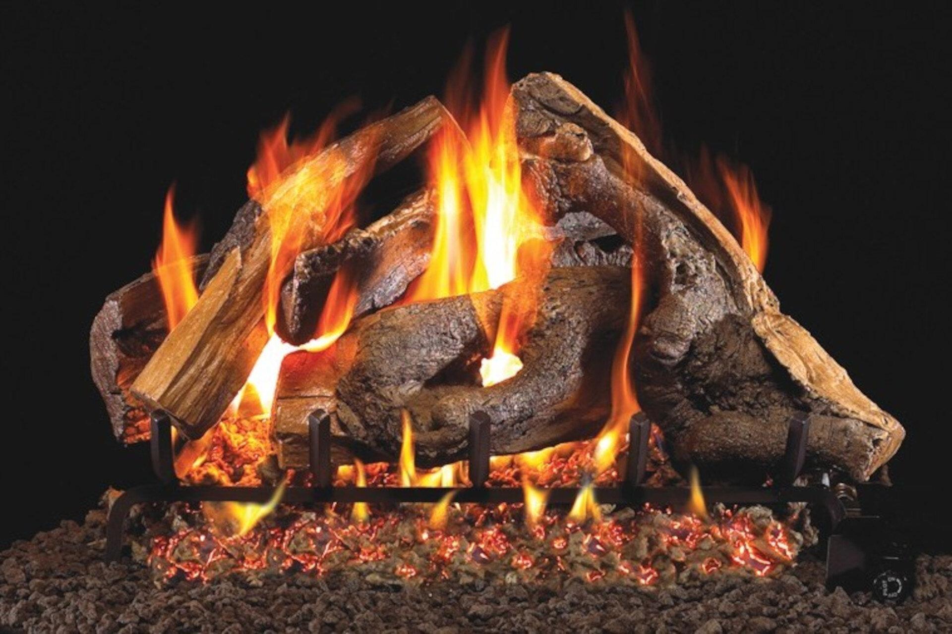 Woodstack - Real Fyre Vented Gas Log Set