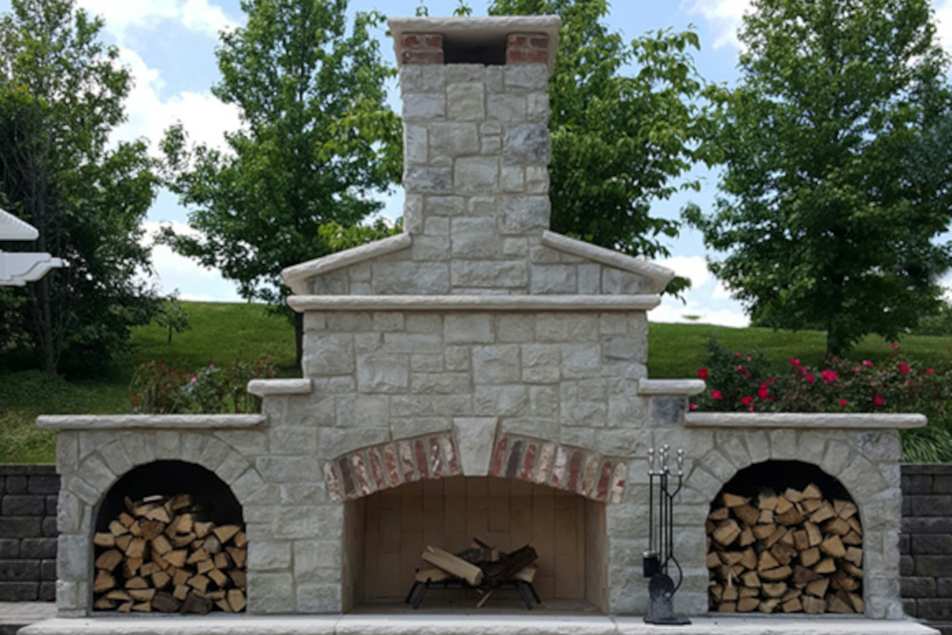 Stone Age Masonry Fireplace Kit