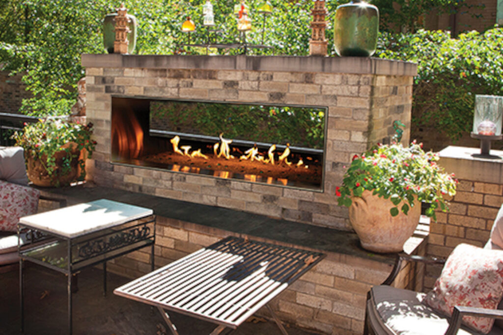 American Hearth OLL48SP Outdoor Fireplace